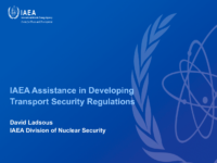 IAEA Assistance in Developing Transport Regulations (English)