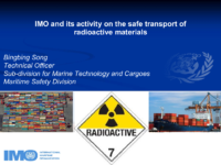 IMO and its activity on the safe transport of radioactive materials